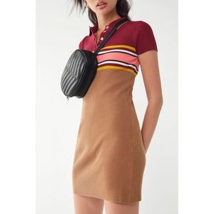 Urban outfitters striped ribbed dress